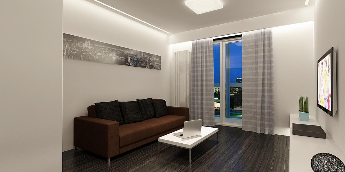 Завантажити Інтер'єр спальні з диваном фото 1 800x400.