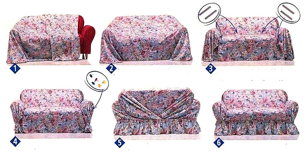 Как сшить чехол на диван своими руками фото