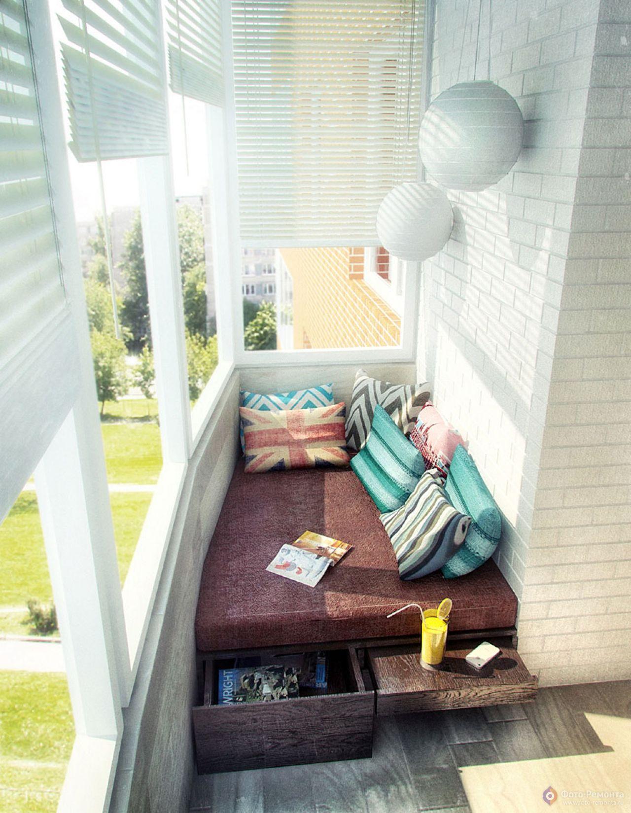 """Идеи оформления балкона """" агентство недвижимости бест-недвиж."""