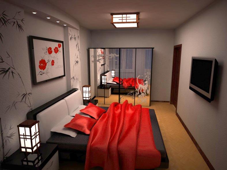Интерьер спальни 12 кв.м прямоугольной формы фото