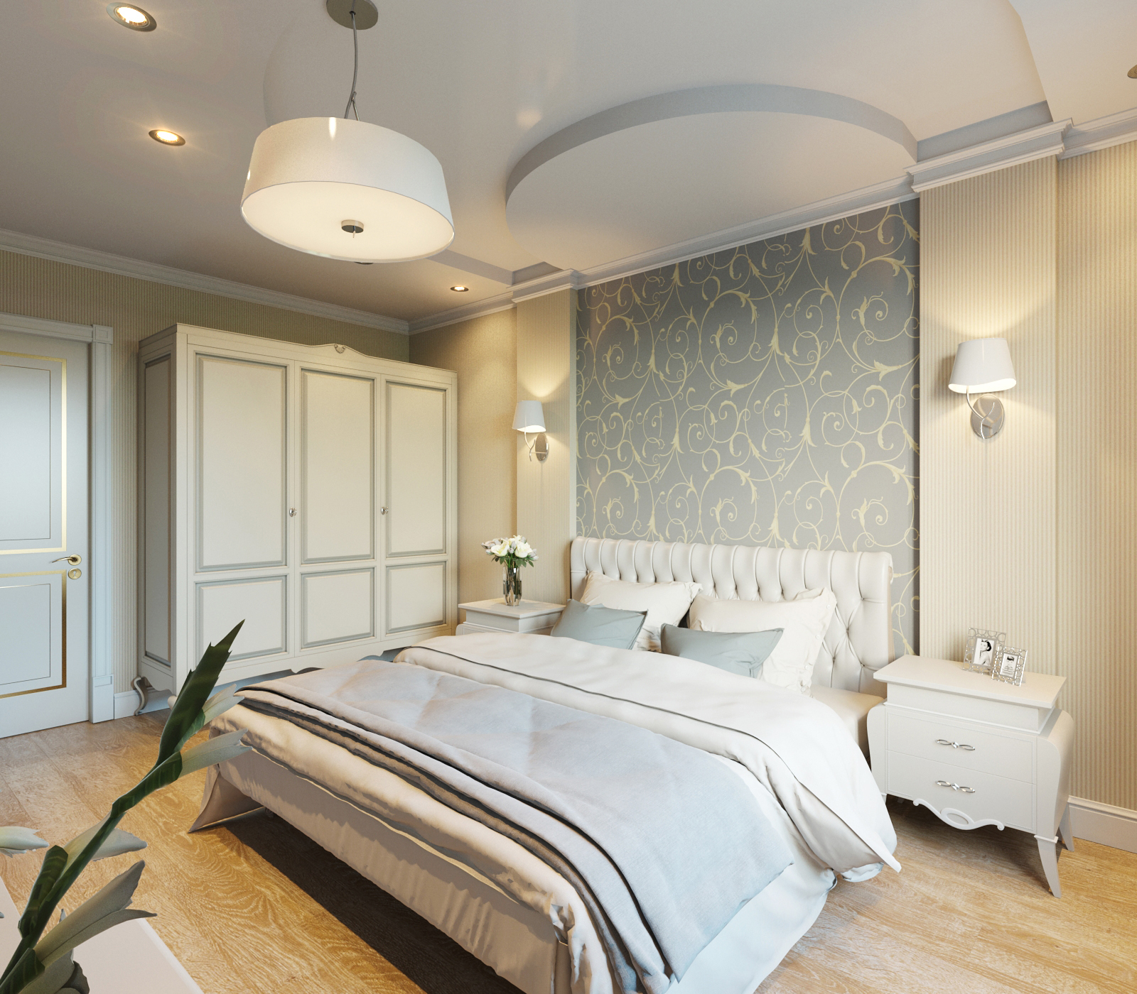 Дизайн спальни 20 кв