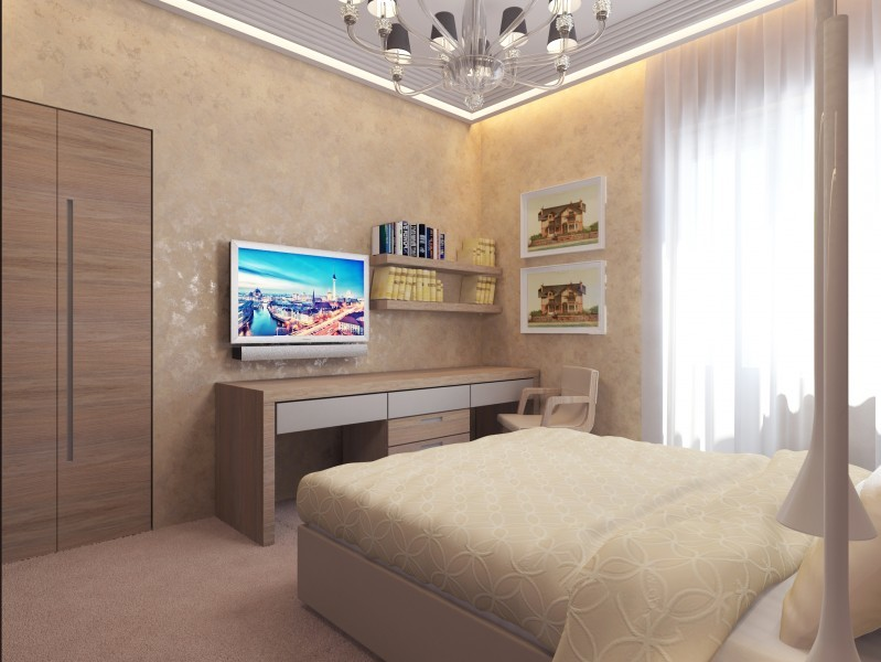 Дизайн спальни 9 кв.