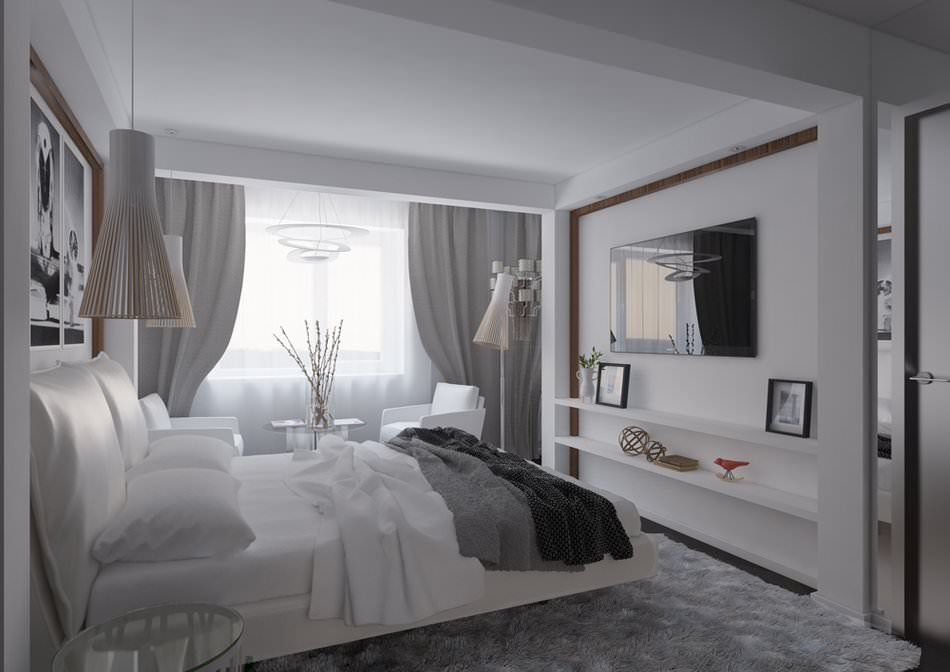 Дизайн спальни 20 кв м: Варианты дизайн-проекта планировки 83