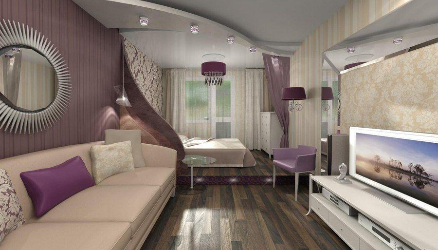 дизайн комнаты 18 квм спальни гостиной 3