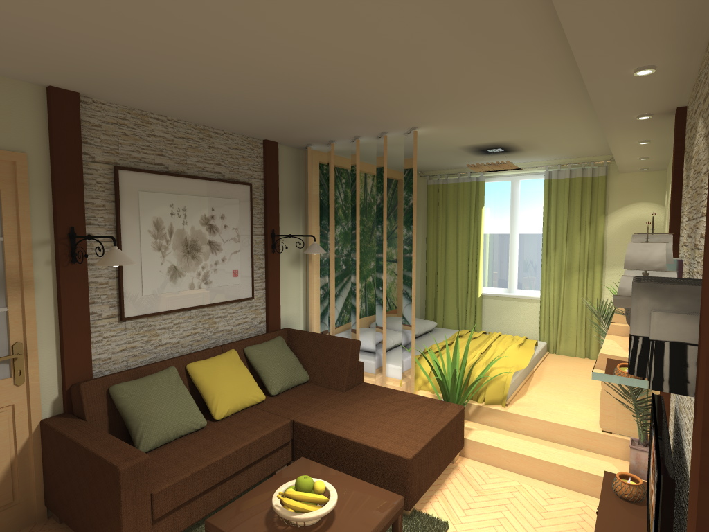 дизайн спальни гостиной 18 кв м 62 фото проект интерьера комнаты