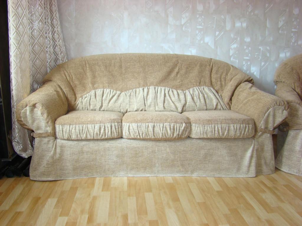 Как сшить объемный чехол на диван 34