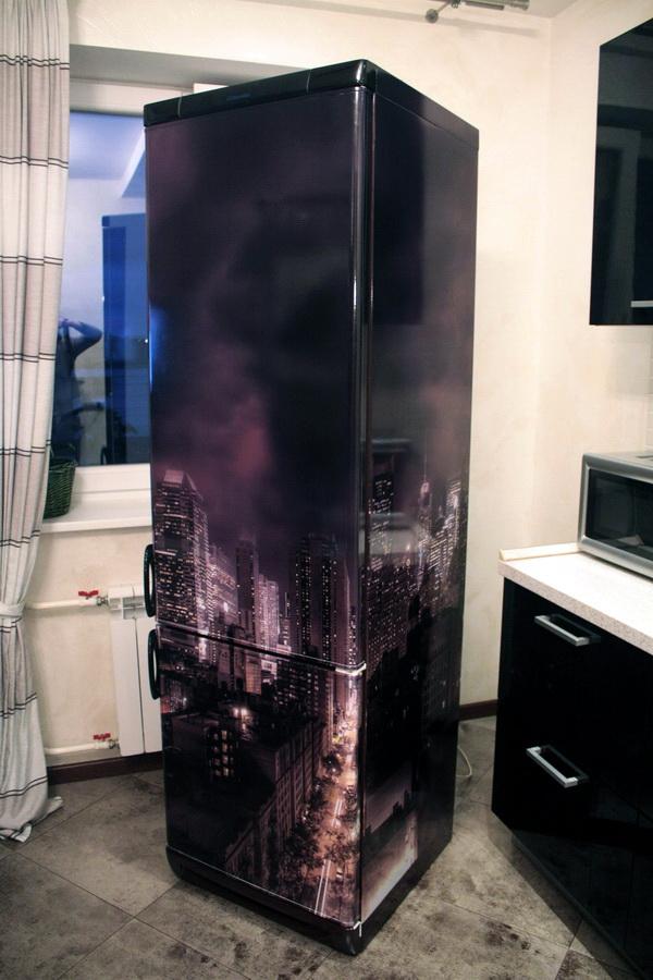 чем обклеить холодильник фото