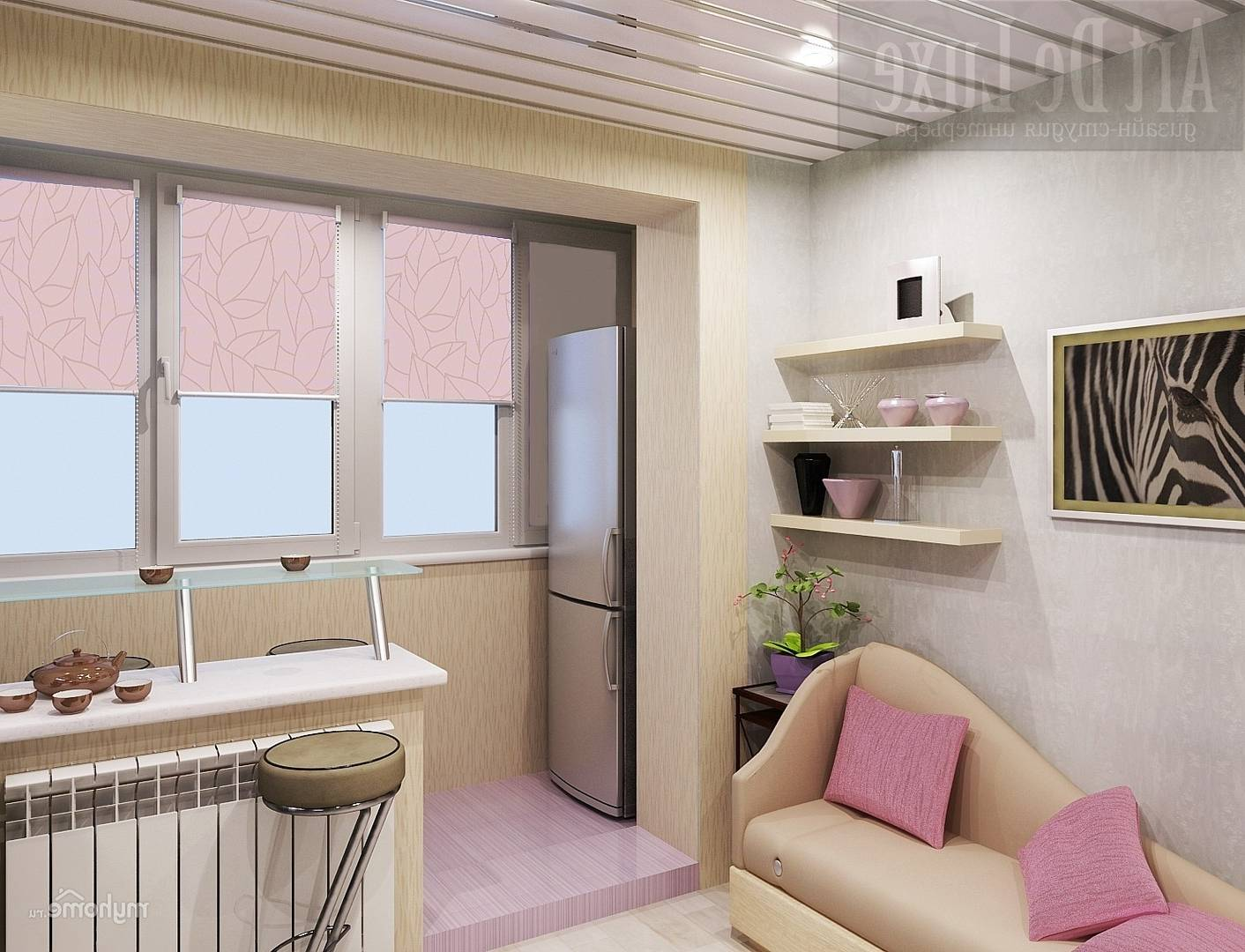 Кухни с балконом: дизайн, фото интерьеров, примеры планировк.