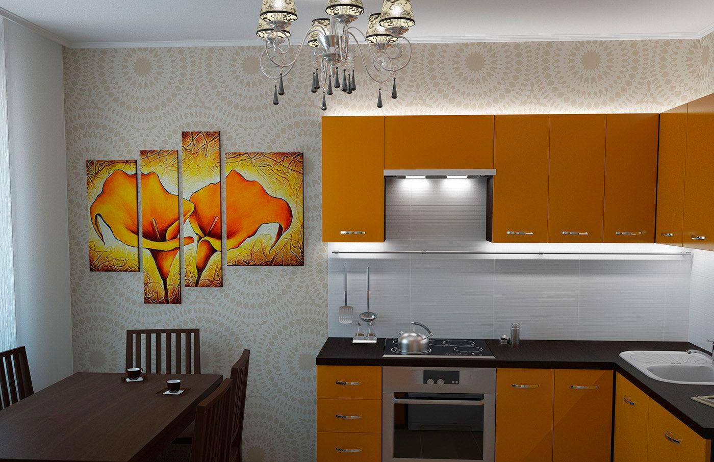 Дизайн кухни 9 квм с окном в панельном доме