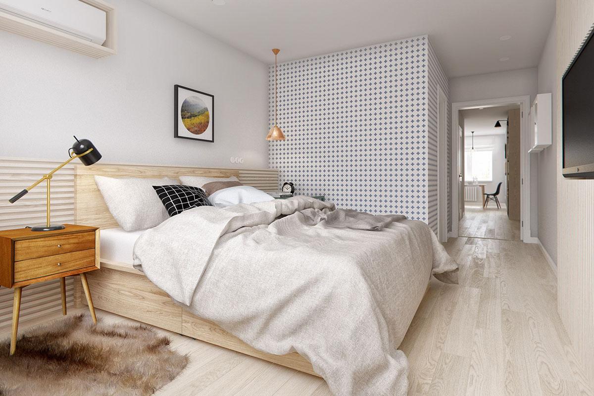 спальня в скандинавском стиле 72 фото дизайн интерьера маленькой
