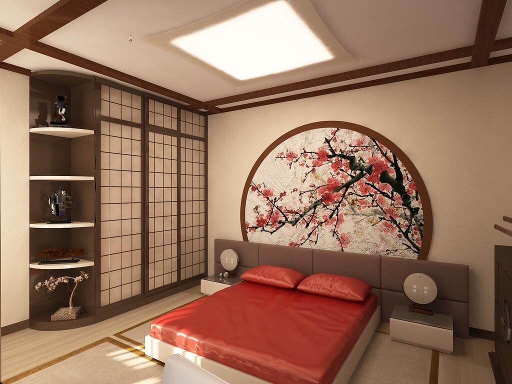 интерьере спальни стиль в фото китайский