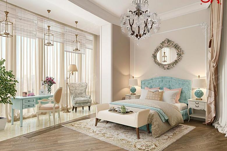 дизайн спальни в светлых тонах современный стиль реальные фото 6