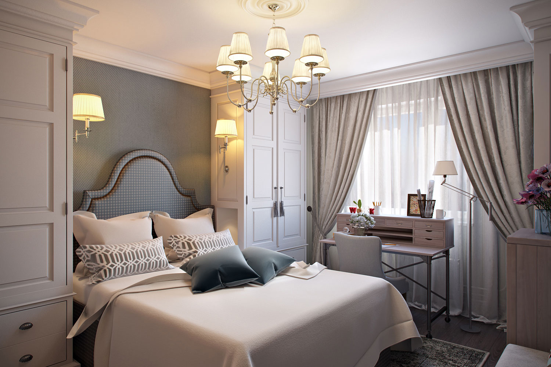 Интерьеры маленькой спальни в классическом стиле фото