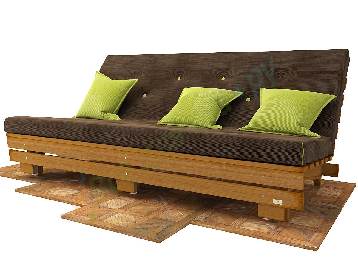 Деревянный диван своими руками 979