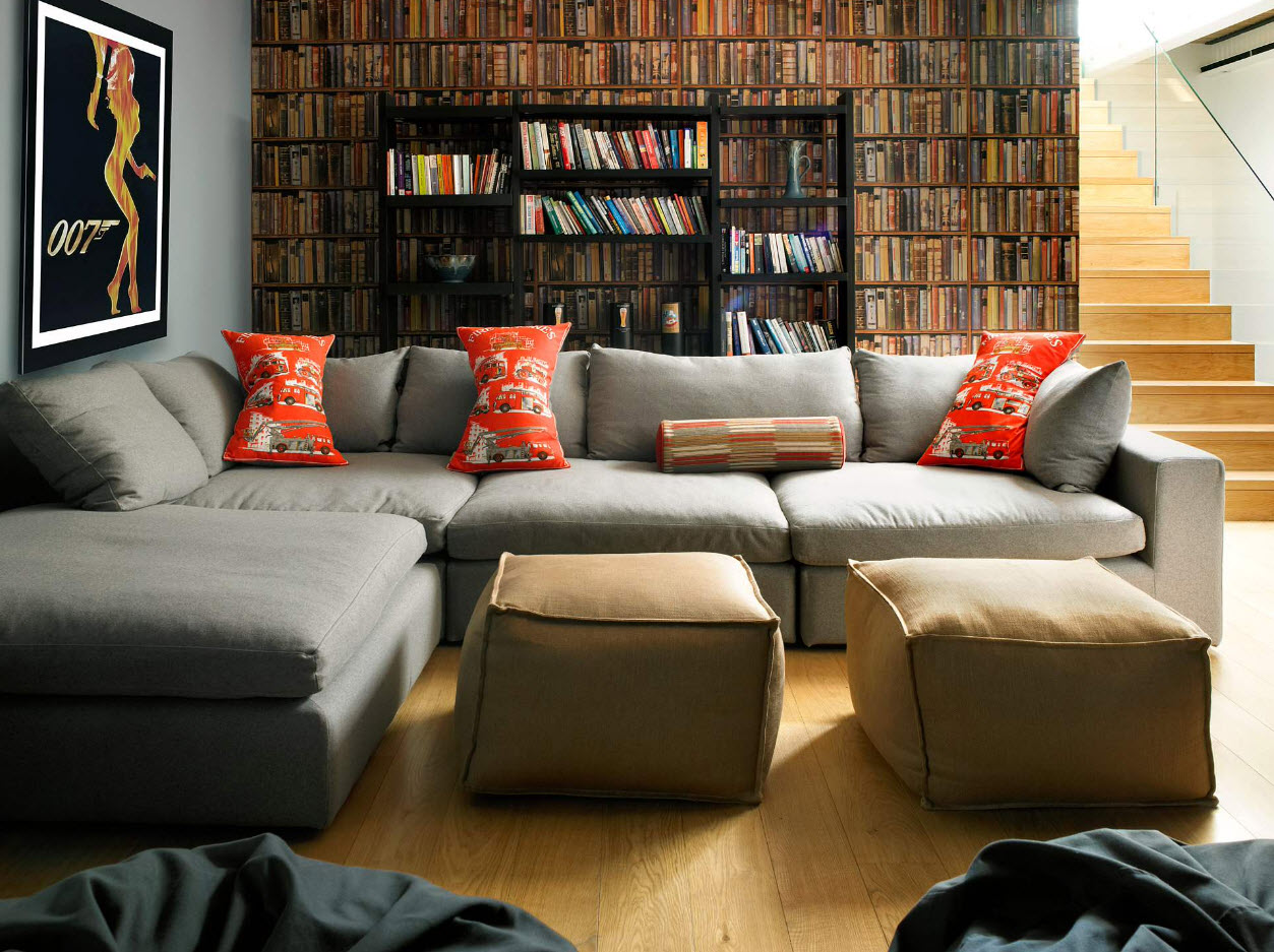 угловой диван в интерьере 20 фото как поставить в комнату в зал