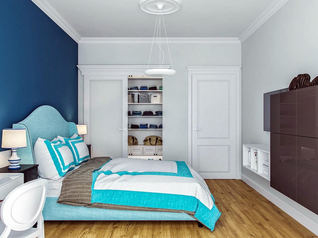 Бирюзовая спальня изоражения