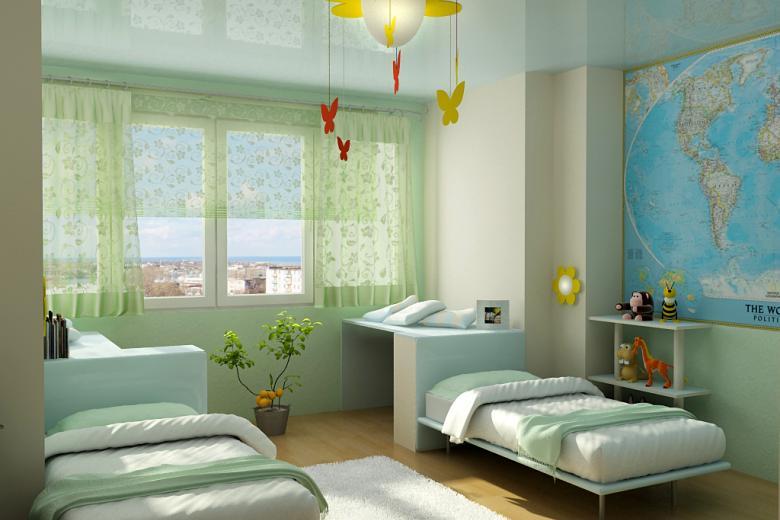 Спальня на двоих детей дизайн 10