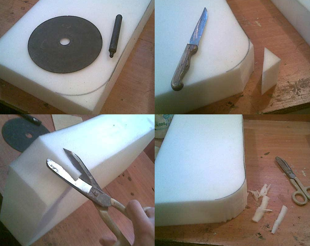 Как сшить из поролона кресло
