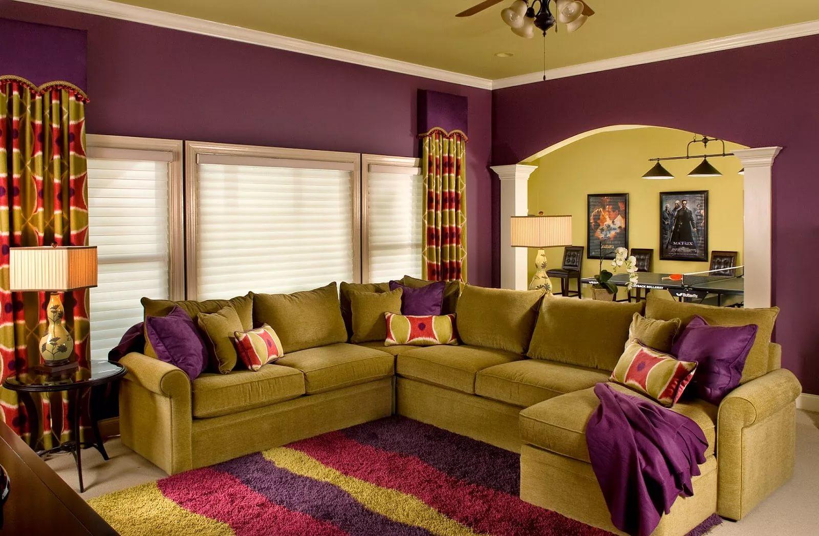 Таблица сочетания цветов в интерьере гостиной фото