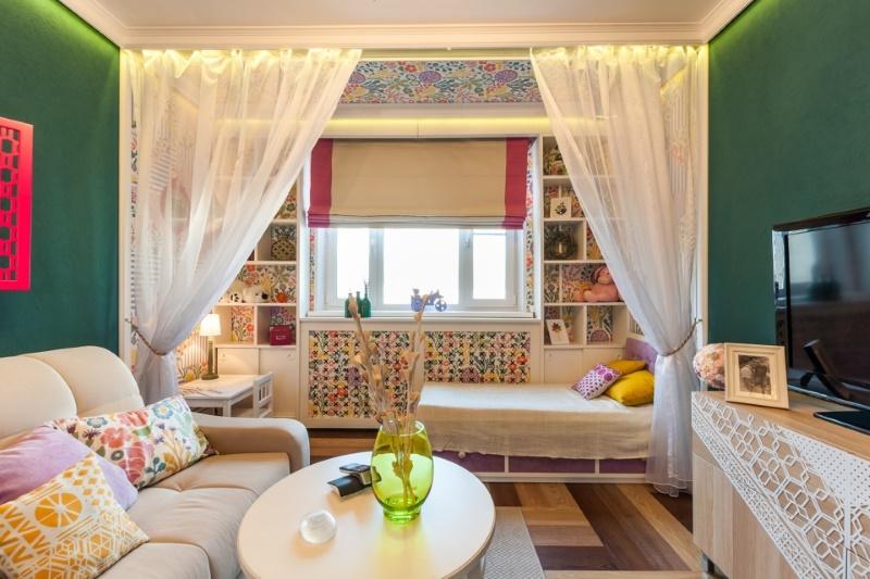 дизайн маленькой спальни гостиной 41 фото идеи интерьера