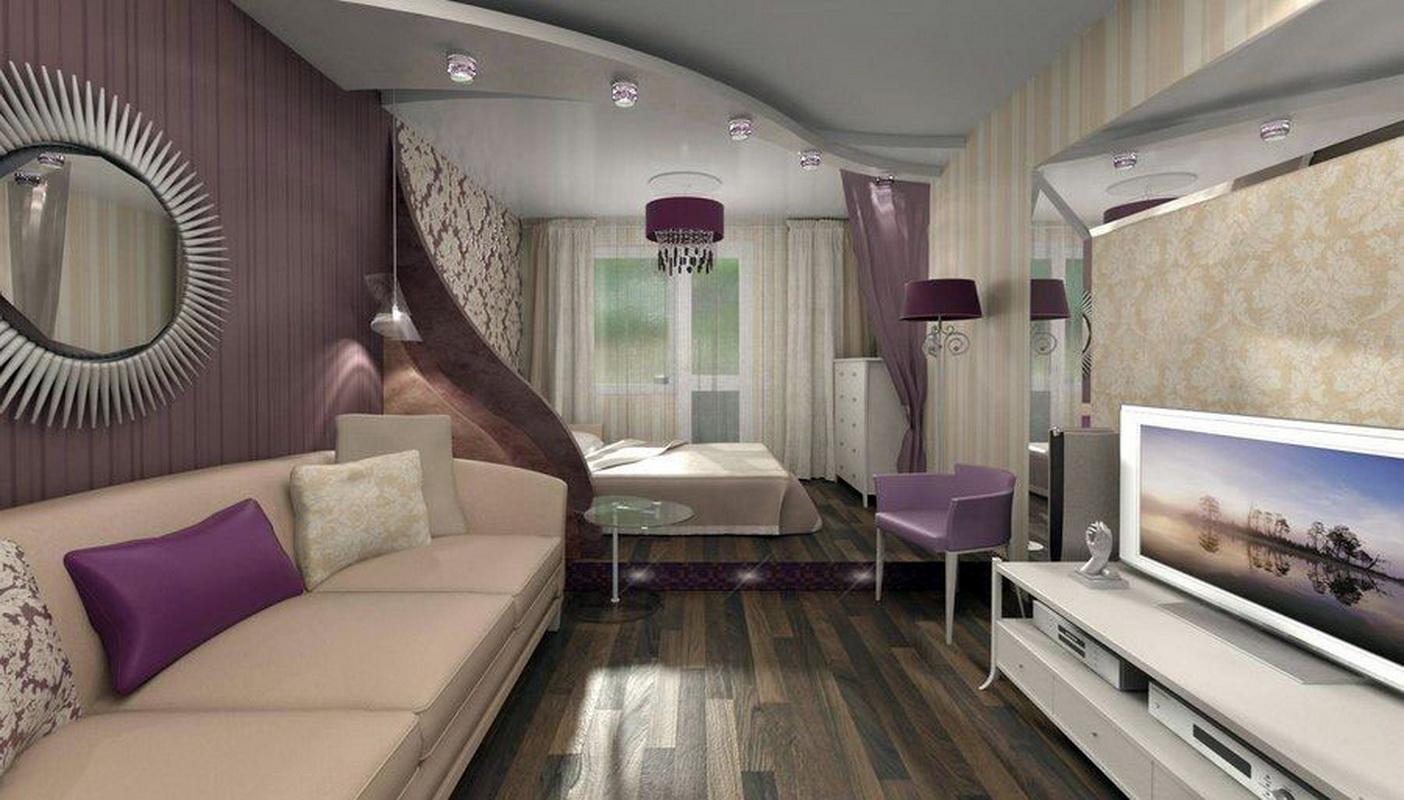 Как из одной гостиной сделать спальню и гостиную Дизайн