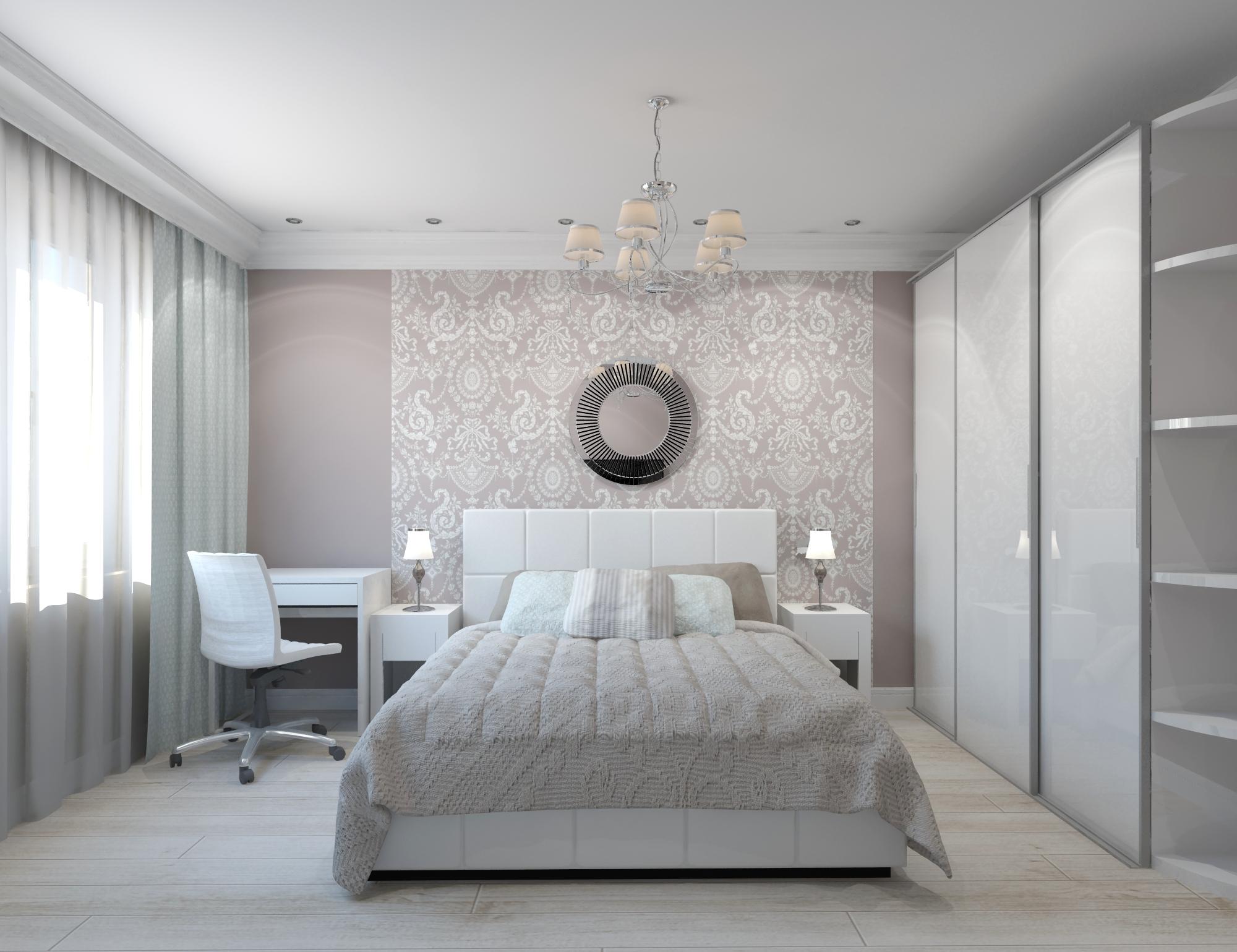 Спальня 17 кв. м дизайн