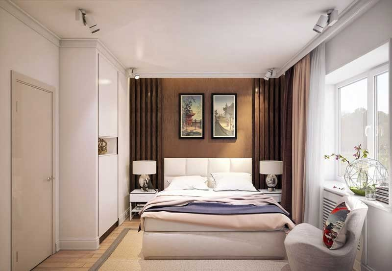 дизайн спальни 18 кв м 70 фото интерьер комнаты с балконом 18