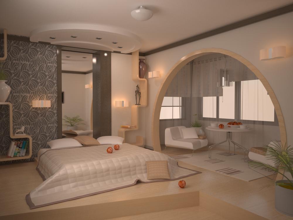 Дизайн спальни 18 кв. м (70 фото): интерьер комнаты с балкон.