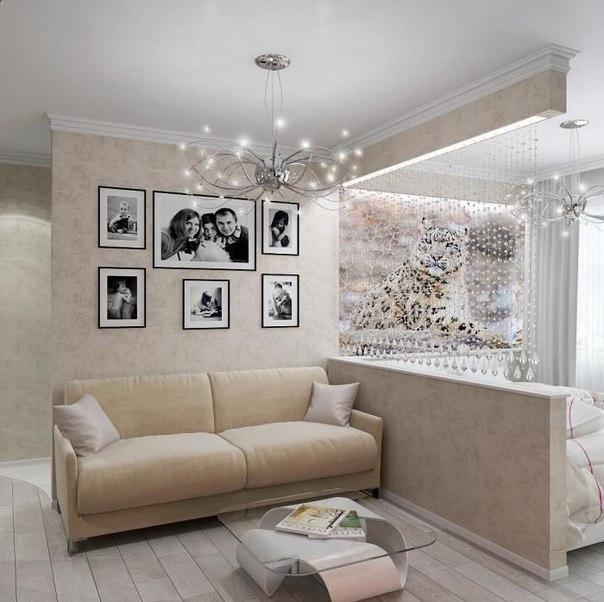 гостиная спальня 17 квадратов дизайн фото 6