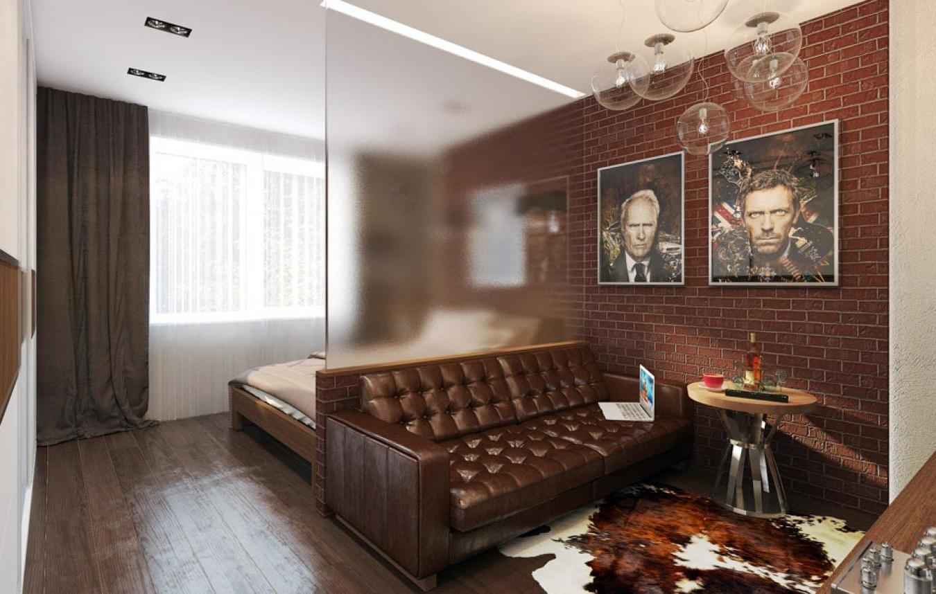 дизайн комнаты 17 кв.м спальня-гостиная фото