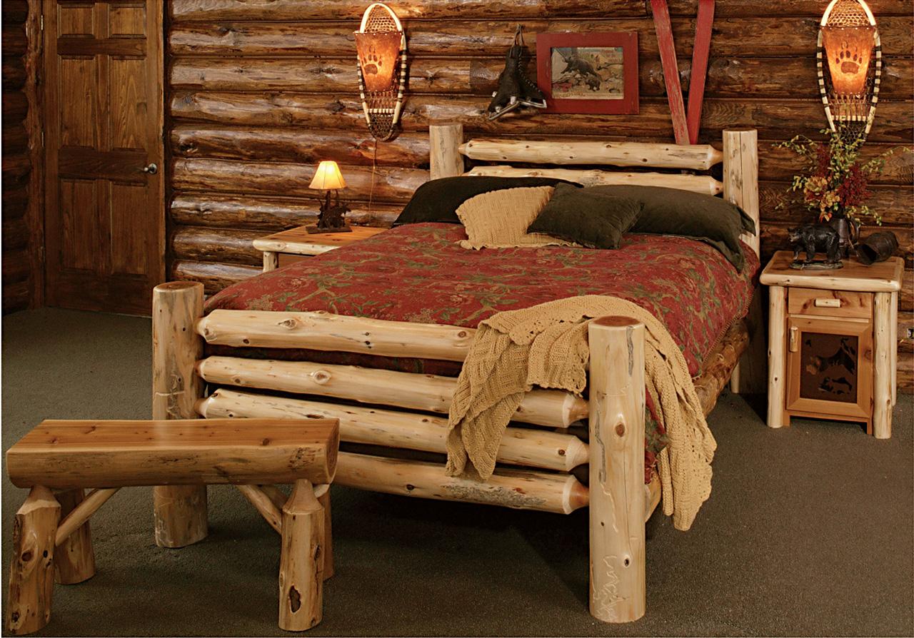 Кровать из бревен сделать своими руками 48