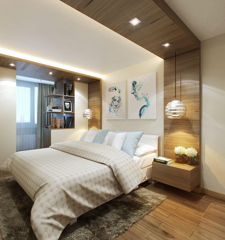Спальня в современном стиле: 20 фото дизайна интерьера.
