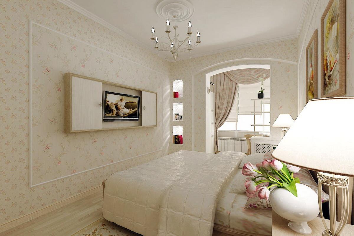 Дизайн спален с балконом - дизайн узкой спальни - узкой длин.