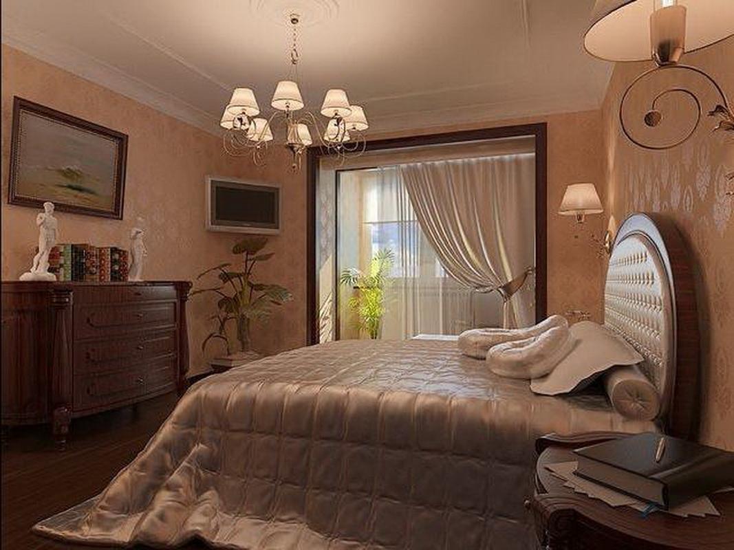 Дизайн спальни в хрущевке: маленькая, узкая.