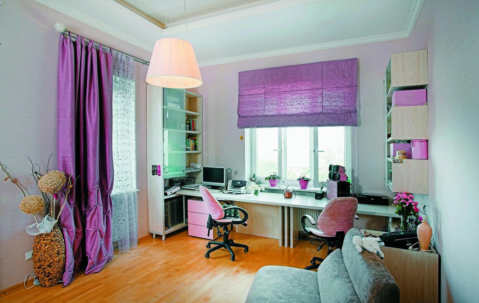 Римские шторы фото в интерьере комнаты подростка