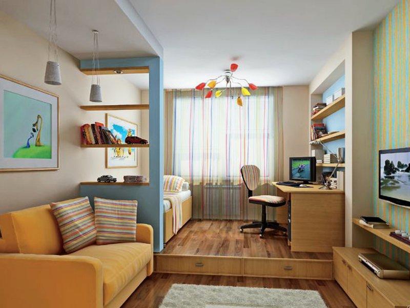 Кабинет-спальня (70 фото): дизайн спальной комнаты с рабочим.