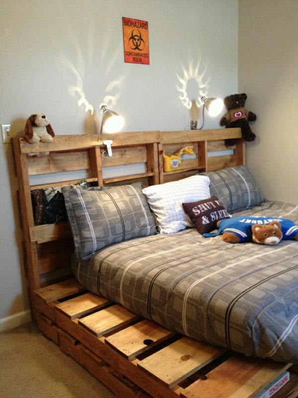 кровать из поддонов 52 фото как сделать кровать из паллетов