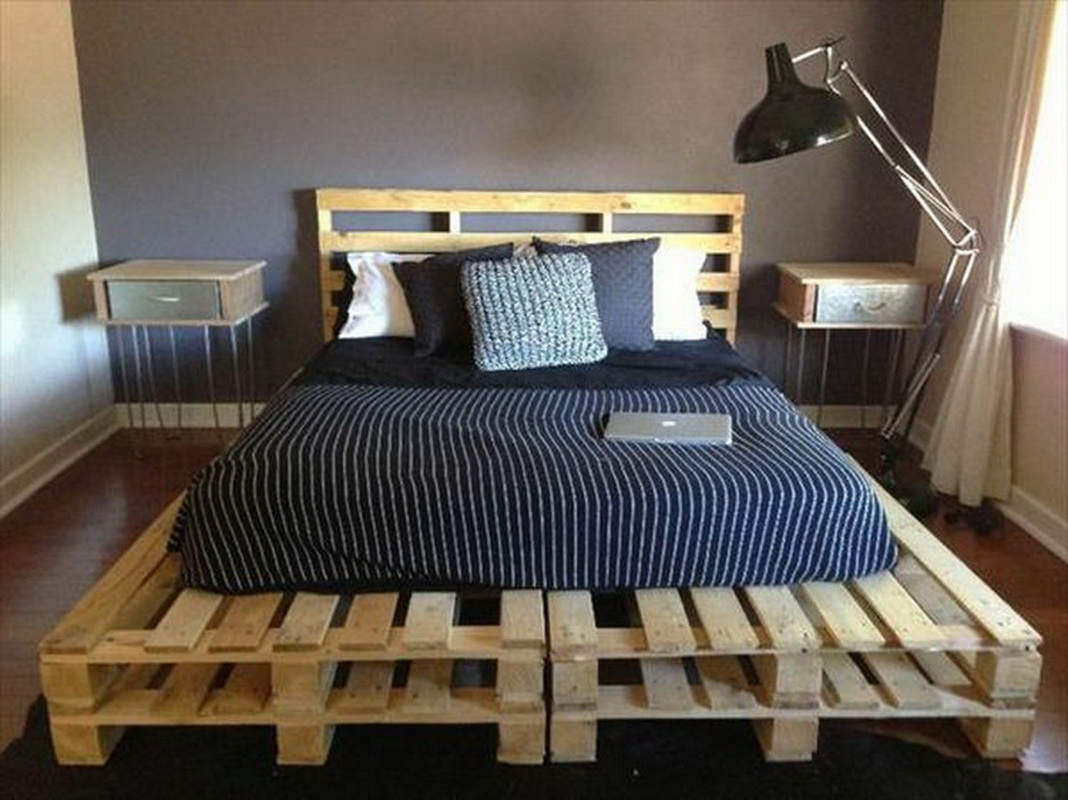 Кровать из поддонов своими руками фото 47
