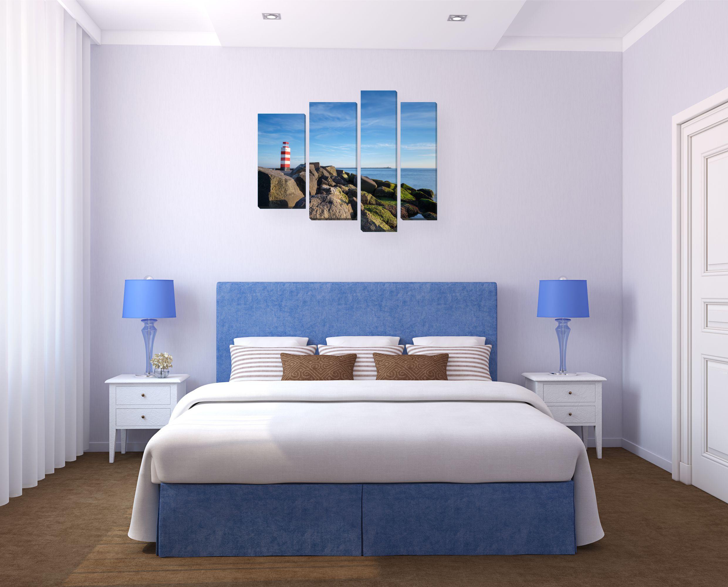 Картины в спальню над кроватью по фен шуй фото
