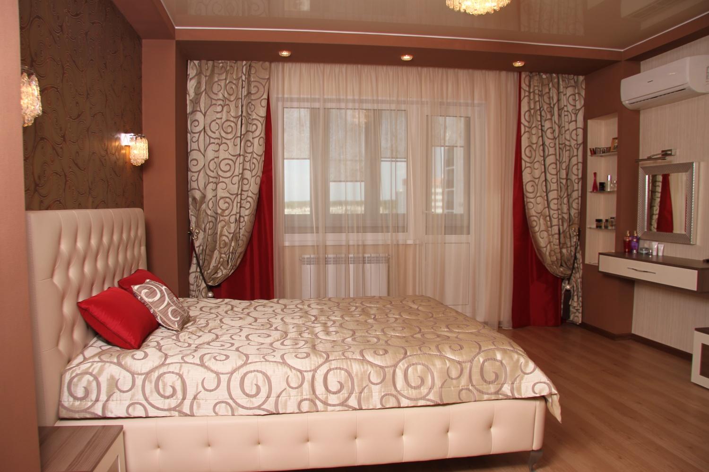 Комбинированные шторы для спальни дизайн