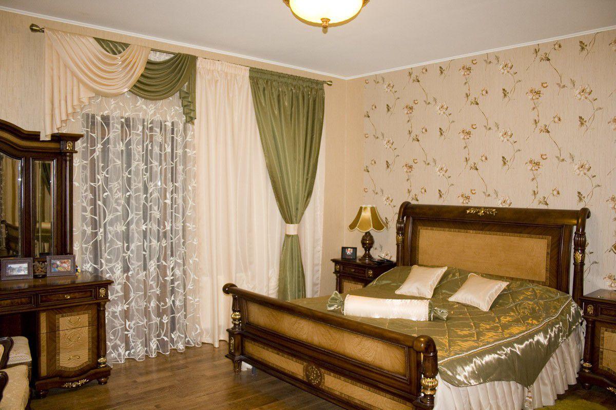 комплект из штор и покрывала для спальни 33 фото красивый набор