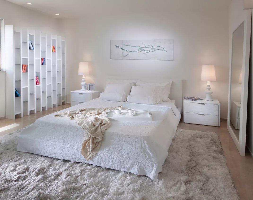 Ковры в спальне из натурального хлопка