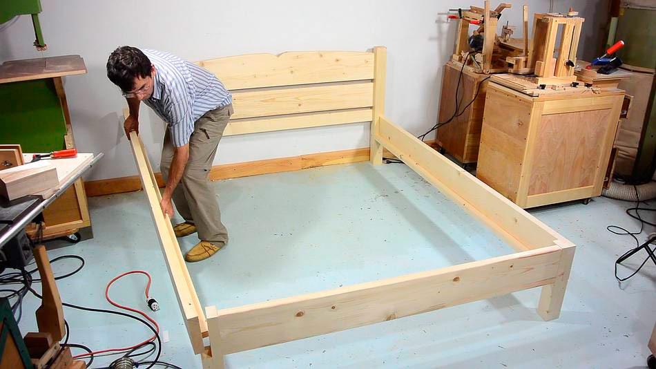 Как сделать деревянные ножки для кровати