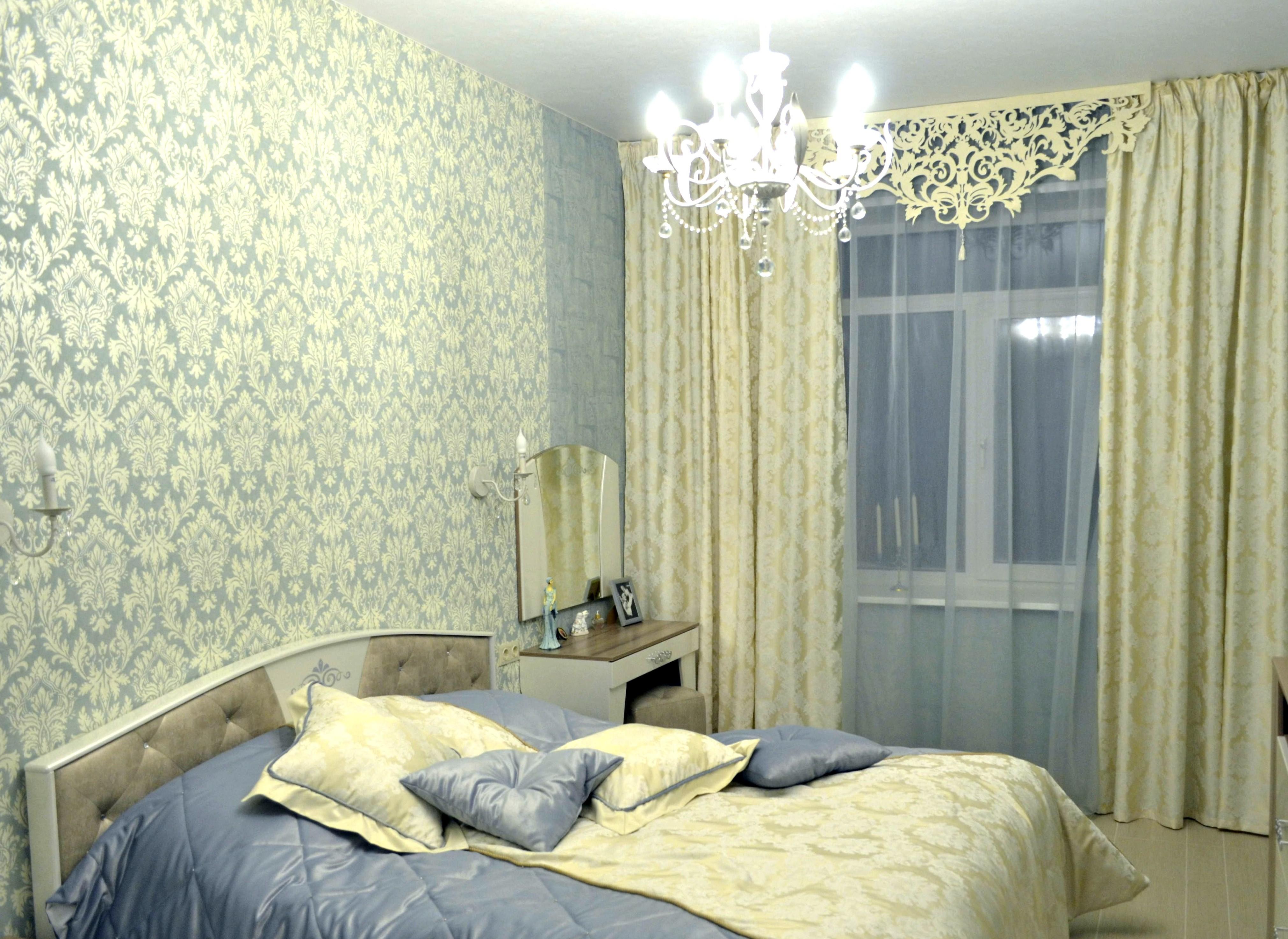 фото в спальню шторы