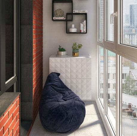 Классный интерьер балкона.