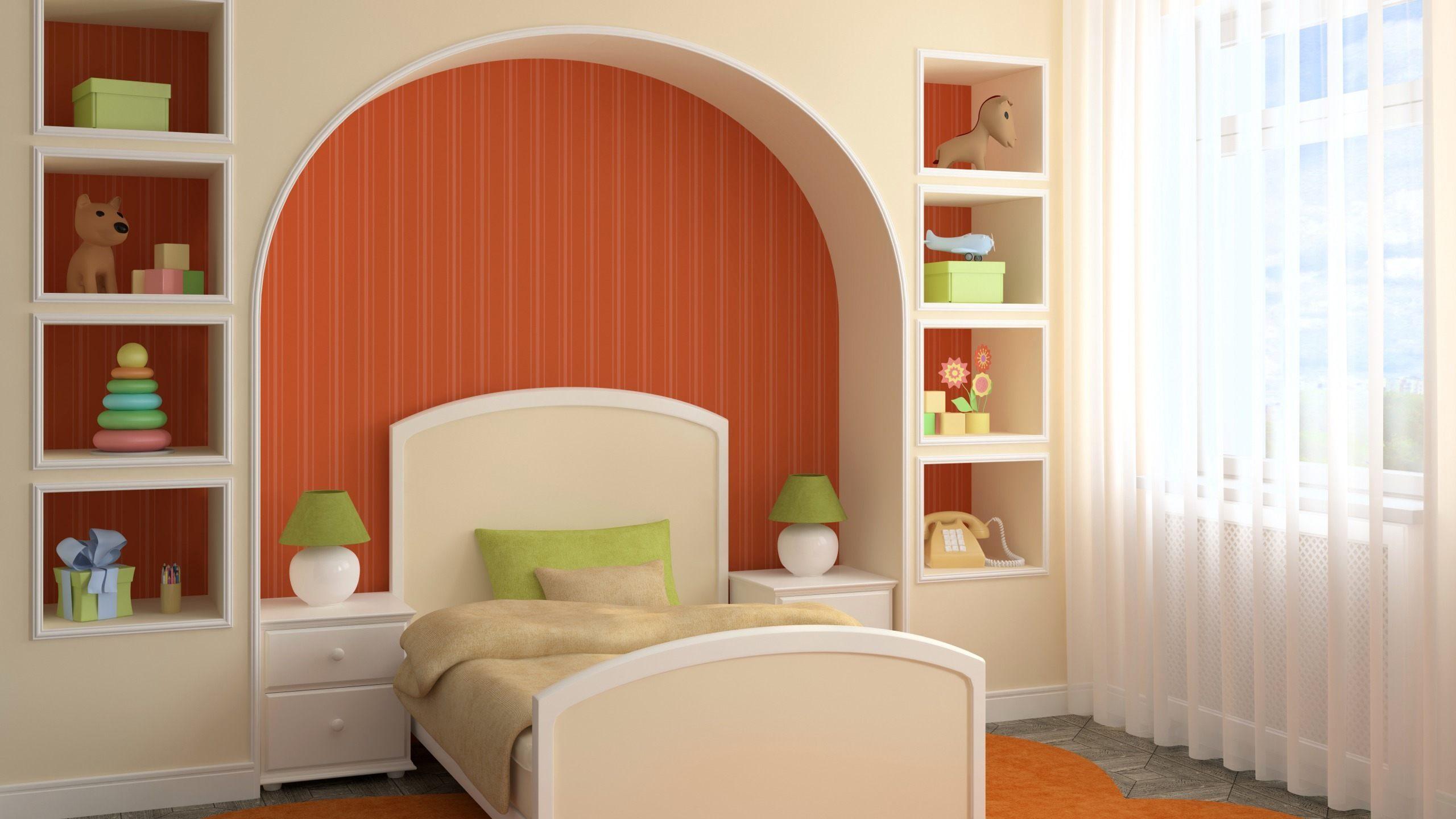 Как сделать спальню из гипсокартона 382
