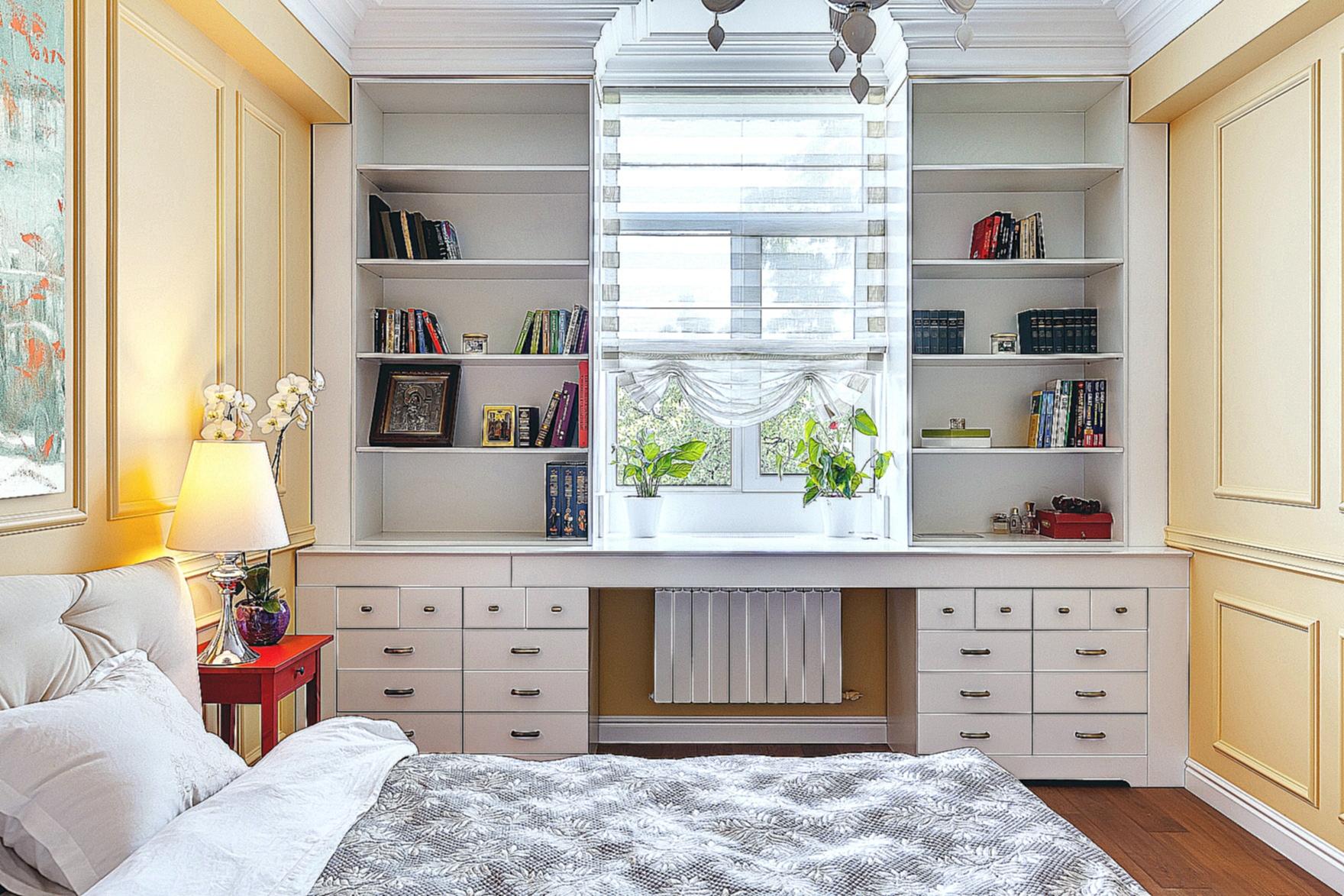 Шкафы вокруг окна: 10 идей для твоего интерьера. - страница .