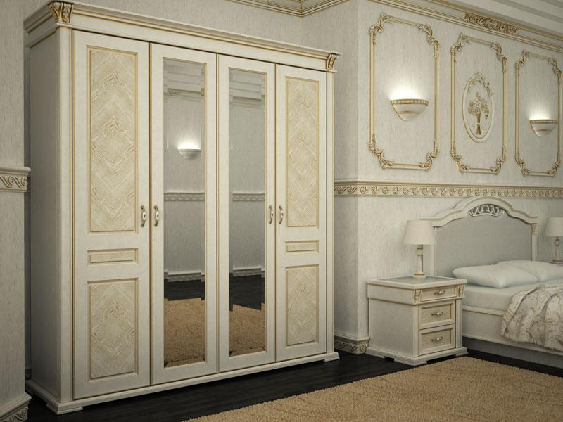 Распашной шкаф в спальне (24 фото): варианты с распашными дв.