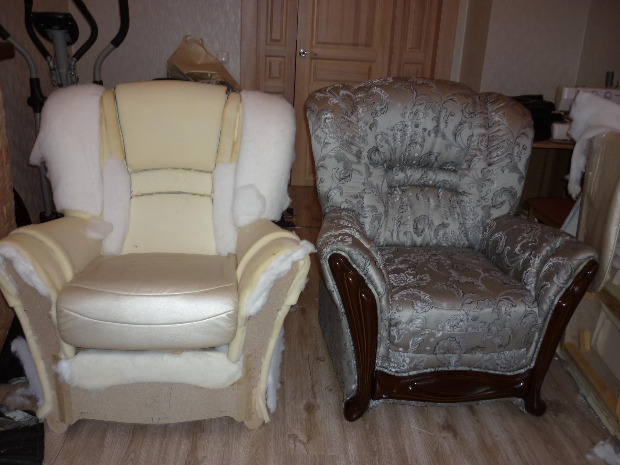 Как своими руками обшить старое кресло своими руками фото 572