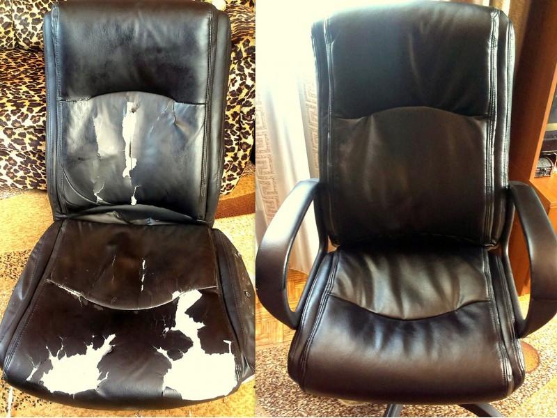 Как обшить офисный стул со спинкой